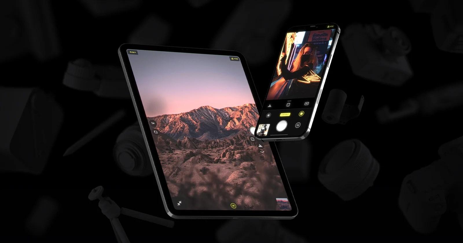 L'app Halide Camera viene lanciata su iPad con un'interfaccia utente ridisegnata