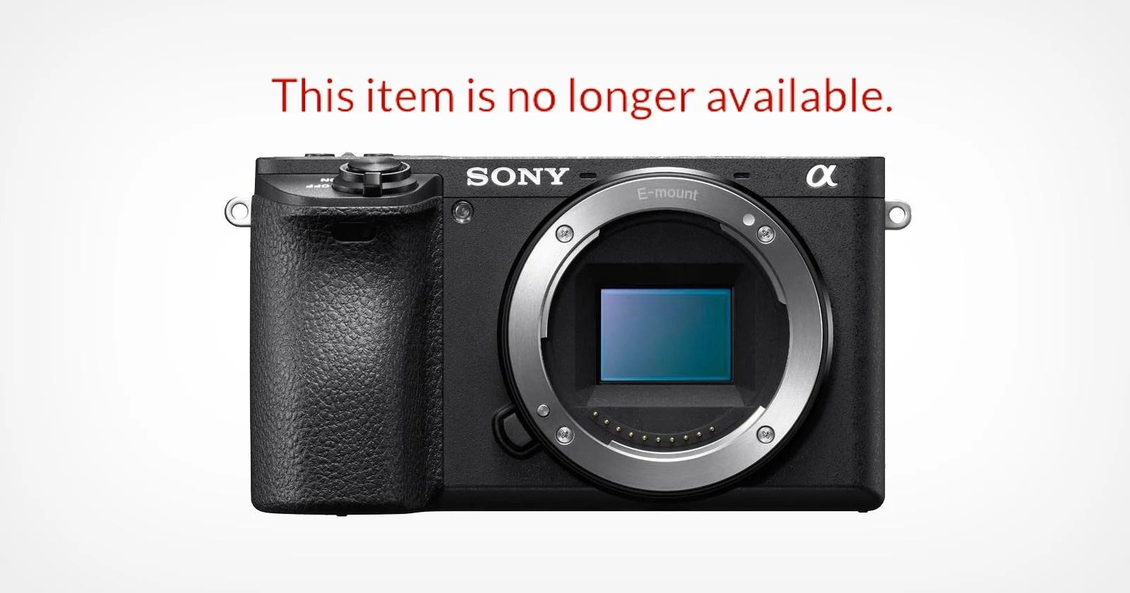 Sony ha interrotto la produzione della fotocamera mirrorless a6500