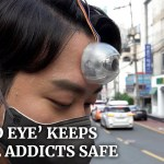 """Inventor costruisce una fotocamera """"terzo occhio"""" per proteggere i tossicodipendenti da smartphone"""