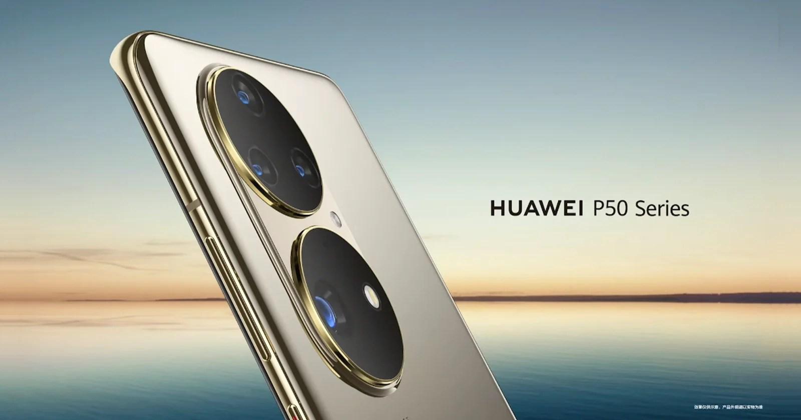 Huawei prende in giro la nuova ammiraglia P50 e il suo gigantesco array a doppia fotocamera
