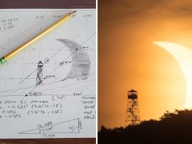 La foto di Eclipse del fotografo corrisponde perfettamente al suo schizzo pianificato