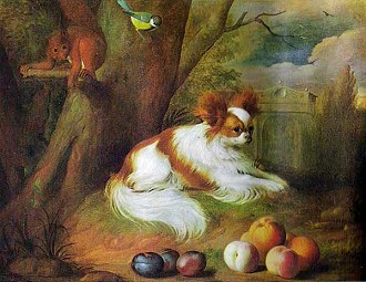 papillon cachorro historia pintura