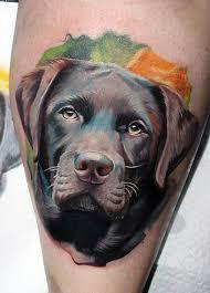 Tatuagem de cachorro labrador