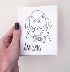 quadro de cachorro