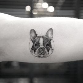 tatuagem-de-cachorro-delicada-bulldog-frances