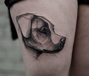 tatuagem de cachorro delicada jack russell