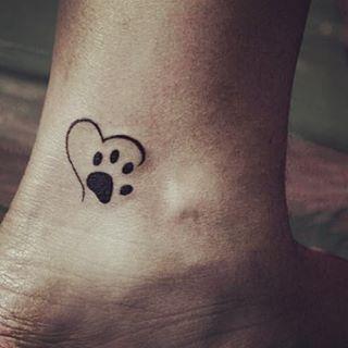 tatuagens de pata de cao