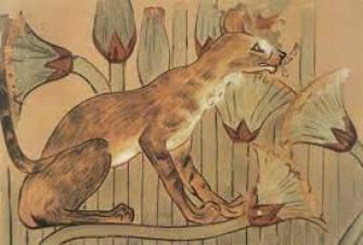 Gato Caracal pintura