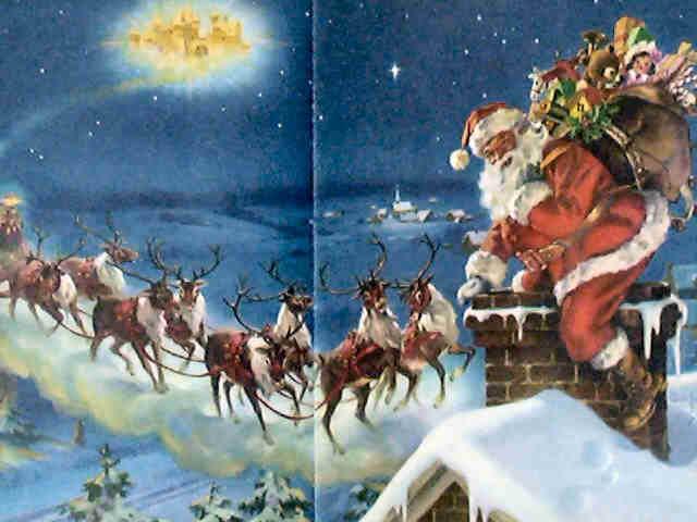 Santas Eight Reindeer Fly Swiftly Through The Sky