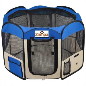 Zampa-Foldable-Portable-Pet-Playpen