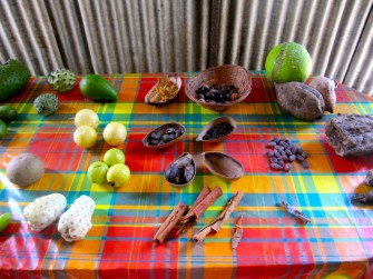 Food is our heritage too! During a visit to the beautiful island of Grenada, I took a photograph of this display of local food items. How many of them can you recognise?