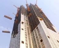Etapas da construção do Mini Sky City