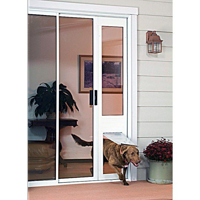 removable pet door panel insert