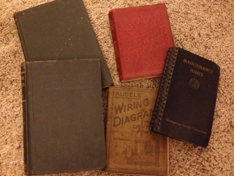Grandpa's Electrical Engineering Textbooks.