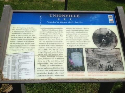 The Unionville Wayside Marker