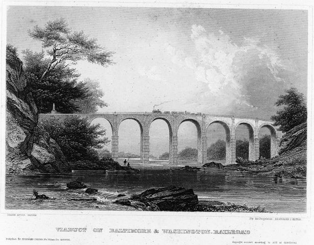 The Thomas Viaduct. Engraving from Wikipedia.