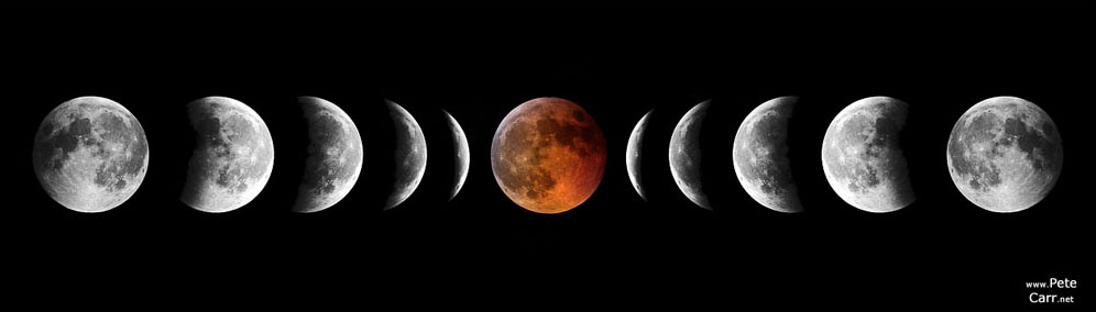A total eclipse of the moon