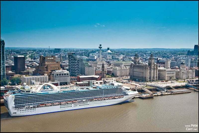 Crown Princess in Liverpool