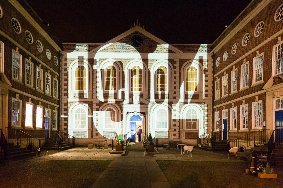 Light Night Liverpool 2014 - Light show at the Bluecoat