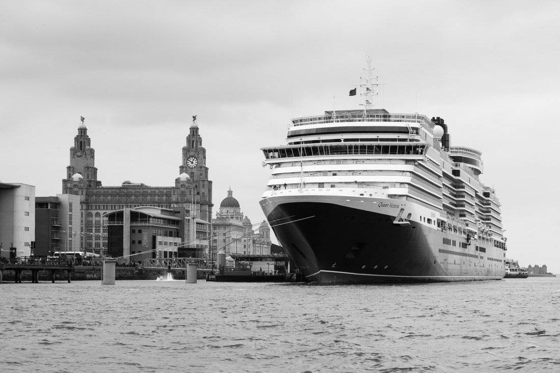 Cunard liner Queen Victoria arrives for the weekend in Liverpool, UK, 30th May, 2014.