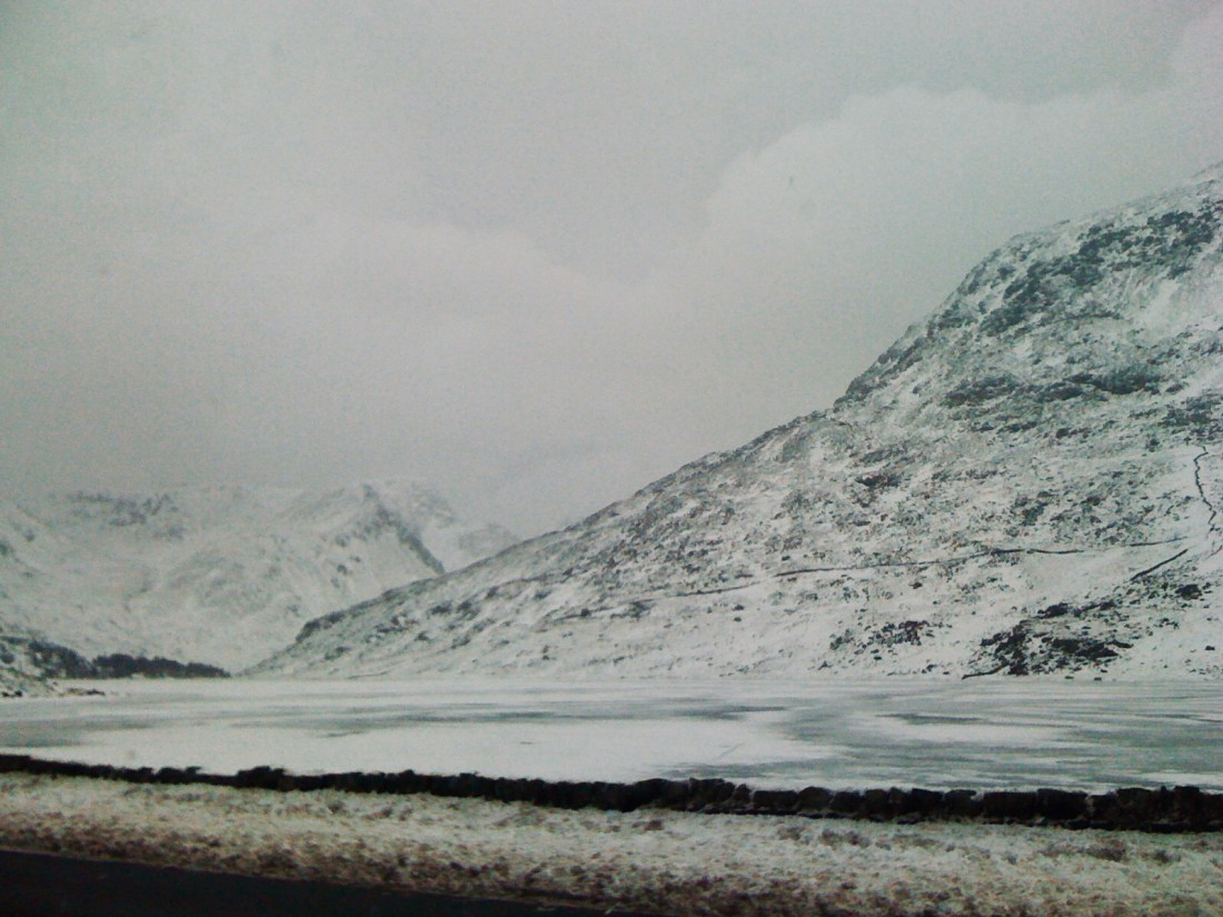 iPhone 3G photo of snowy Welsh mountains