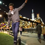 escaping the hectic Festival of Light - DUMBO, Brooklyn NY