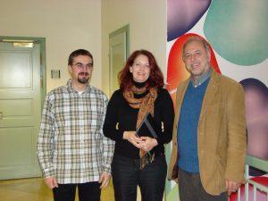 Zu Besuch: Matthias Hupfer, Annett Zobel (edu-sharing, Weimar)el und ich
