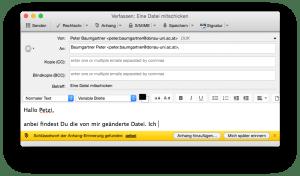 Thunderbird Erinnerung zu Datei-Anhang