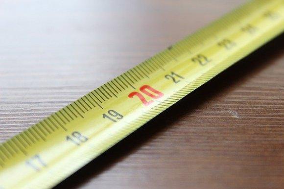 Ausschnitt eines metrisches Maßbandes