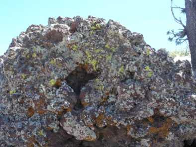 Cookie Monster, fused ash at Capulin, NM