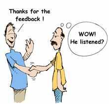 taking feedback well