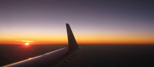 wingtip sunset