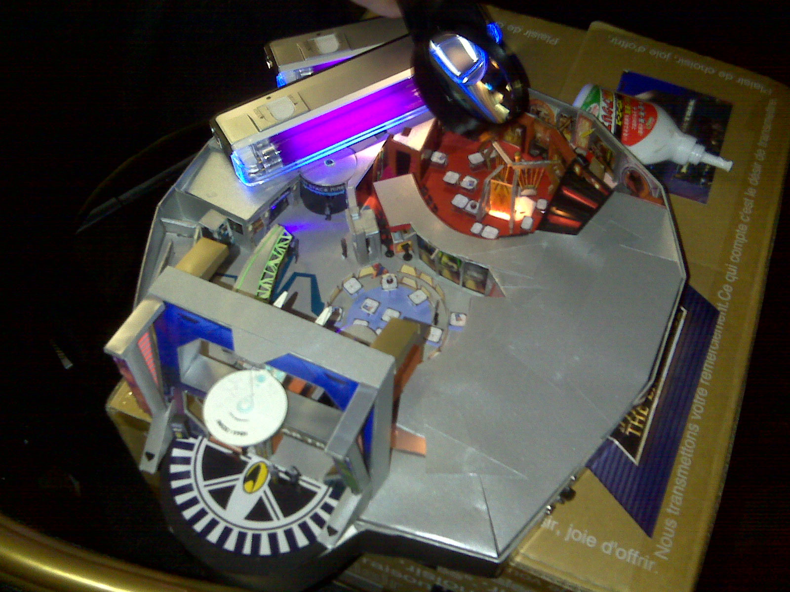 Hand made model of Star Trek the Experience