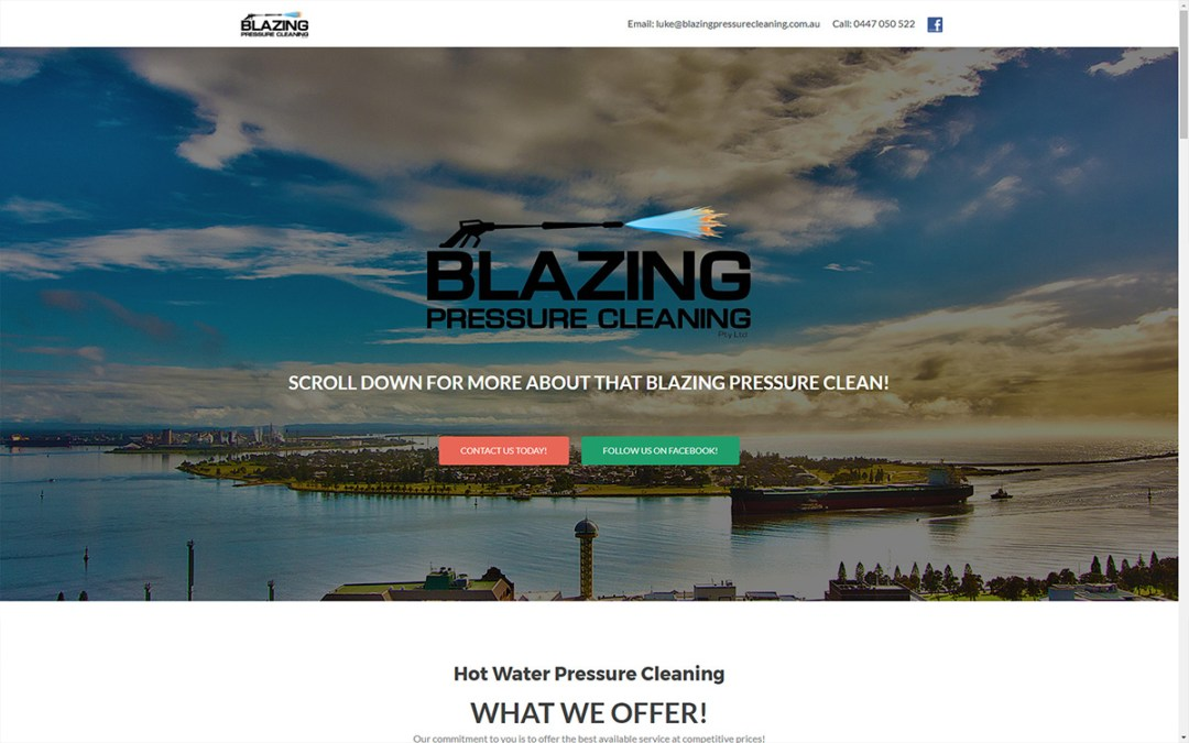 Blazing Pressure Cleaning - Website