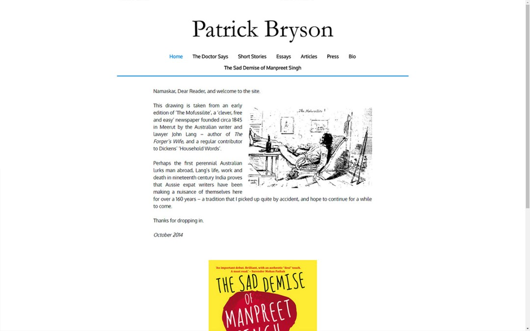 Patrick Bryson - Website