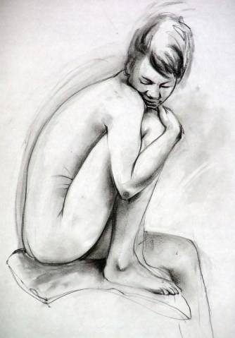 Willow charcoal, charcoal pencil
