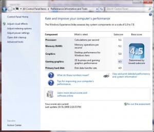 TM8210 Windows 7 Performance Index