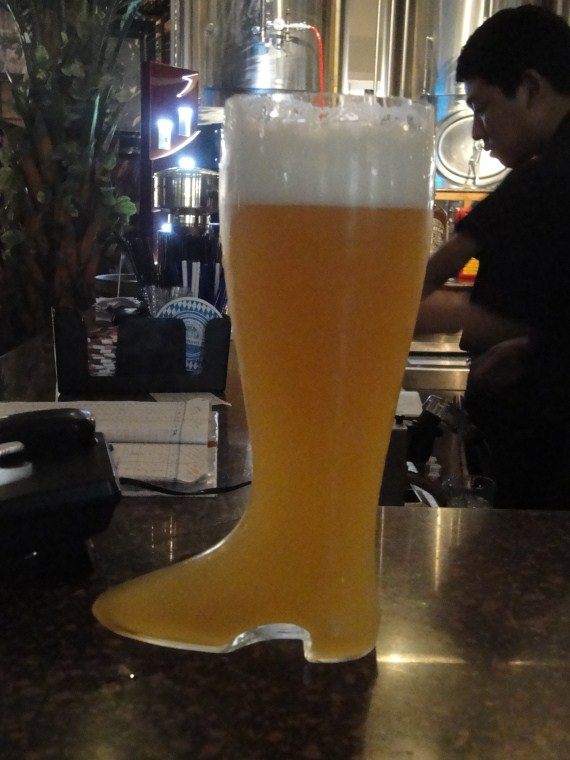 I'll have a boot of beer please