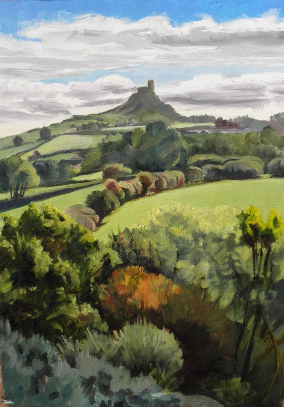 Brentor Painting by PeterDavies-Art