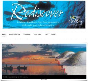Coral Bay Beach Resort website