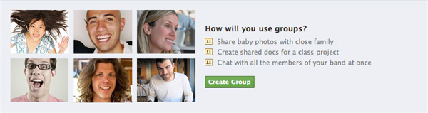 Facebook Groups advertisement