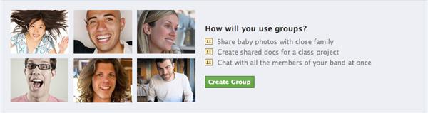 Facebook Groups advertisement