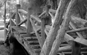 Wooden bridge in Whiteman Park
