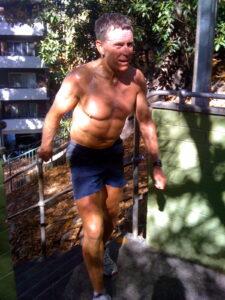 Geoff Jamieson on his way up Jacob's Ladder