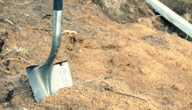 A shovel in a construction project