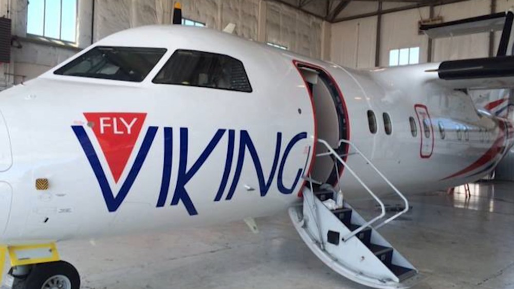 Hangar ute av styret Fly Viking bagasjen med på FlyViking Flere avganger