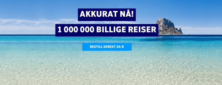 1000000 billige reiser