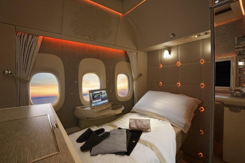 hos emiratesEmirates First Class pysjamas