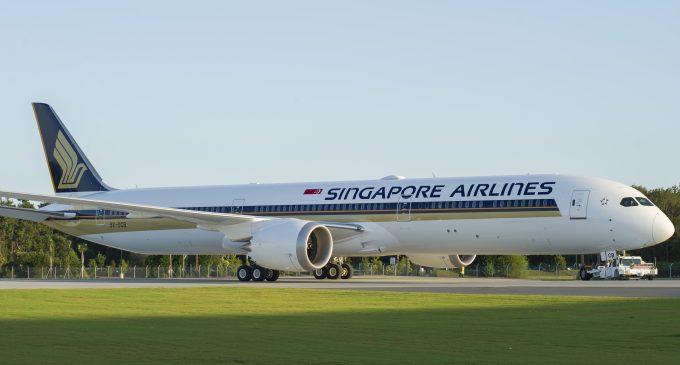 Singapore Airlines Boeing 787-10 første rute blir Osaka