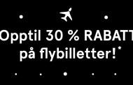 Norwegian Black Friday – Opptil 30% rabatt
